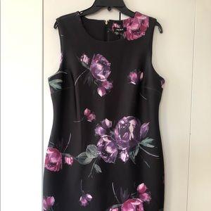 DKNY Floral-Print Scuba Sheath Dress Size 14.